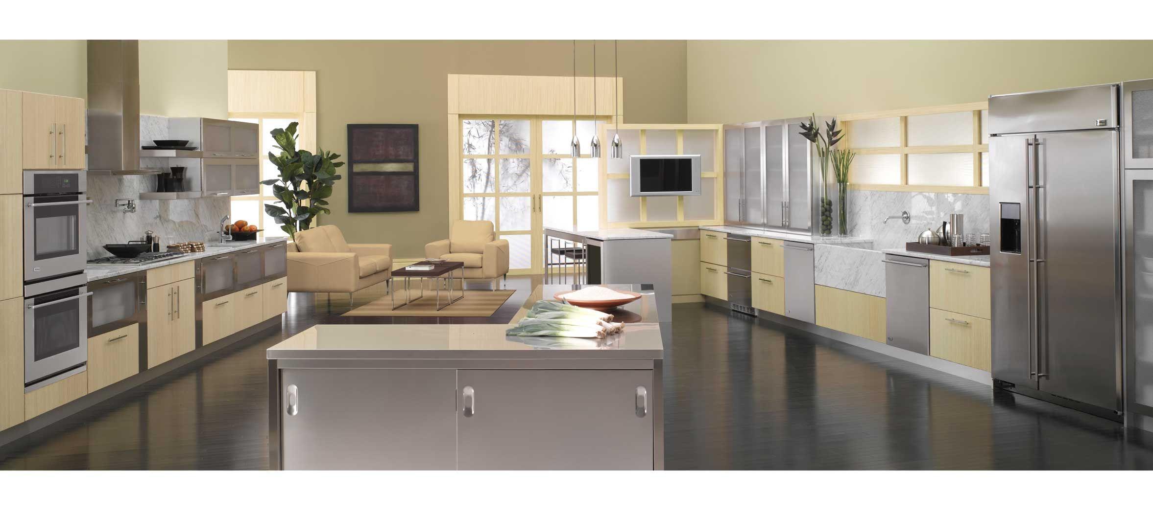Ge Monogram Bamboo Kitchen Appliances Kitchen Design Pictures Custom Kitchen Cabinets Sleek Kitchen
