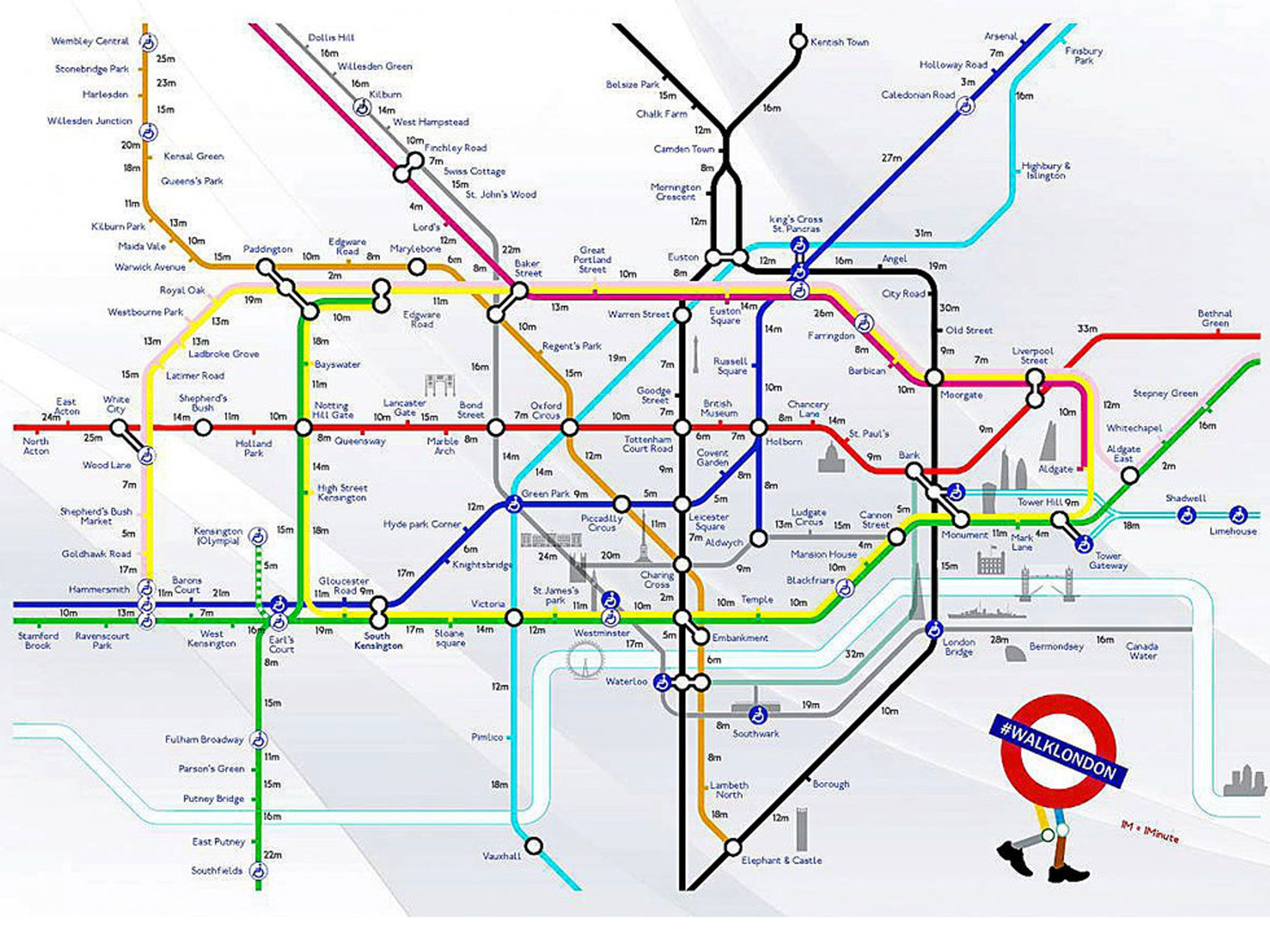 tube strike walking map avoid underground chaos with this useful guide to overground routes between stations