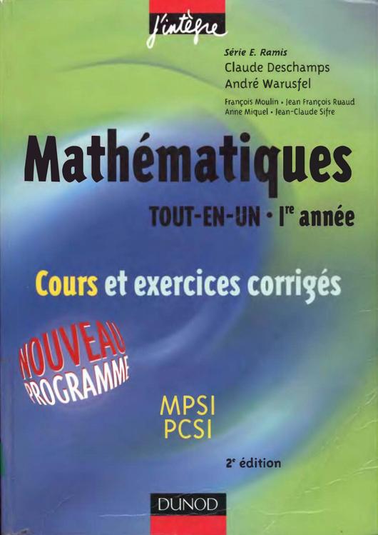 Mathematiques Tout En Un Math Science Free Ebooks Download