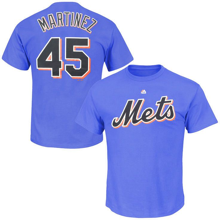 Pedro Martinez New York Mets Majestic Cooperstown Collection Name & Number T-Shirt - Royal Blue - $22.39