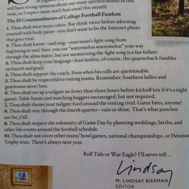 From southern living. I am so breaking rule number 9 next year!