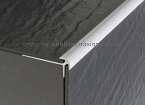 Aluminium Stair Nosing For Lino Lvt Thin Tiles 2 7m Stair