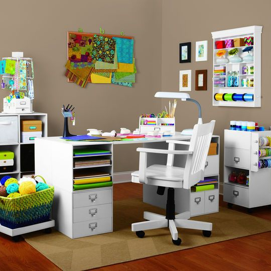 Create a convenient workspace with these desktop shelves used create a convenient workspace with these desktop shelves used together with modular craft storage pieces thecheapjerseys Images