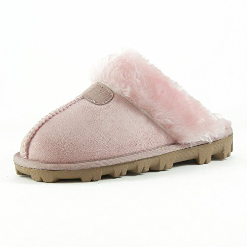 WOMENS LADIES SLIP ON MULE WARM LINED WINTER MOCCASINS COMFY COSY SLIPPERS SHOES