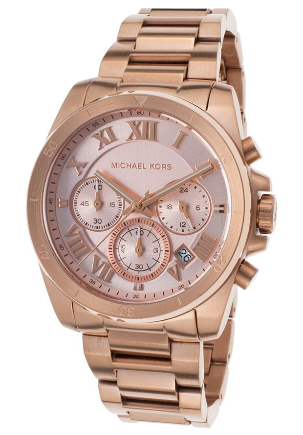 Michael Kors Style #: MKORS-MK6367  Women's Brecken Chronograph Rose-Tone SS and Dial Rose-Tone