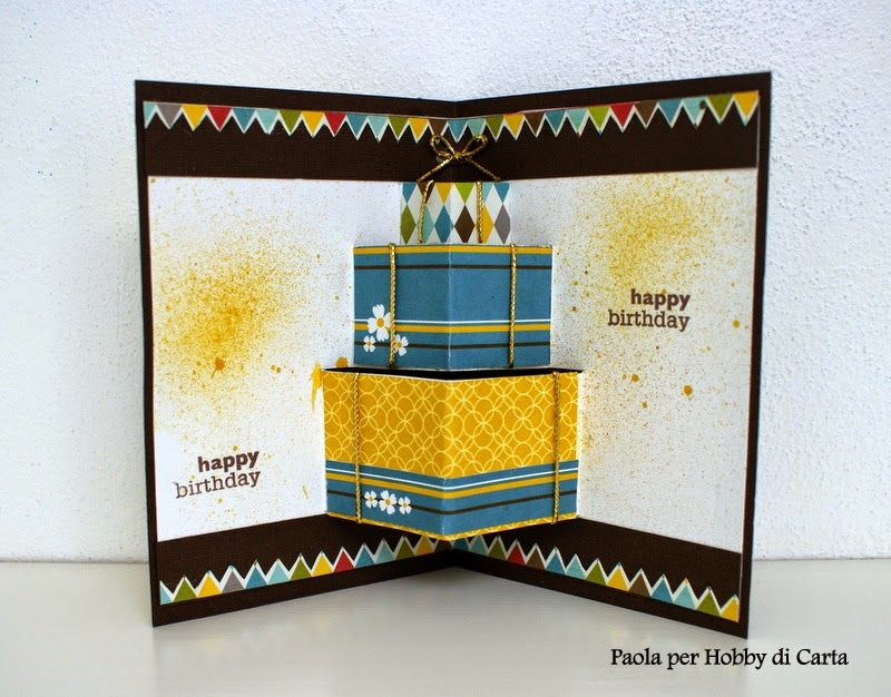Hobby di Carta - Il blog: Card Pop Up per un compleanno by Paola tutorial