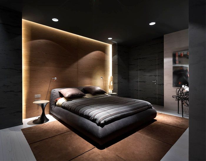 Apartment In Dark Moody Colors By Incube Schlafzimmer Design