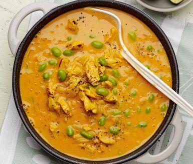 soppa med kyckling