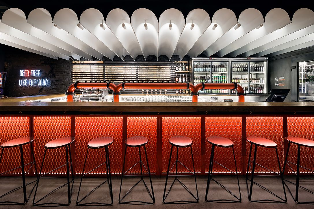 Punkraft Bar In Ukraine Hiconsumption Bar Design Restaurant Bar Interior Design Cafe Interior Design