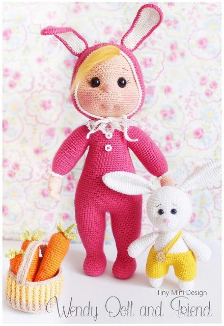 Bunny Costume Wendy Doll Pattern | pop | Pinterest | Baby Puppen ...