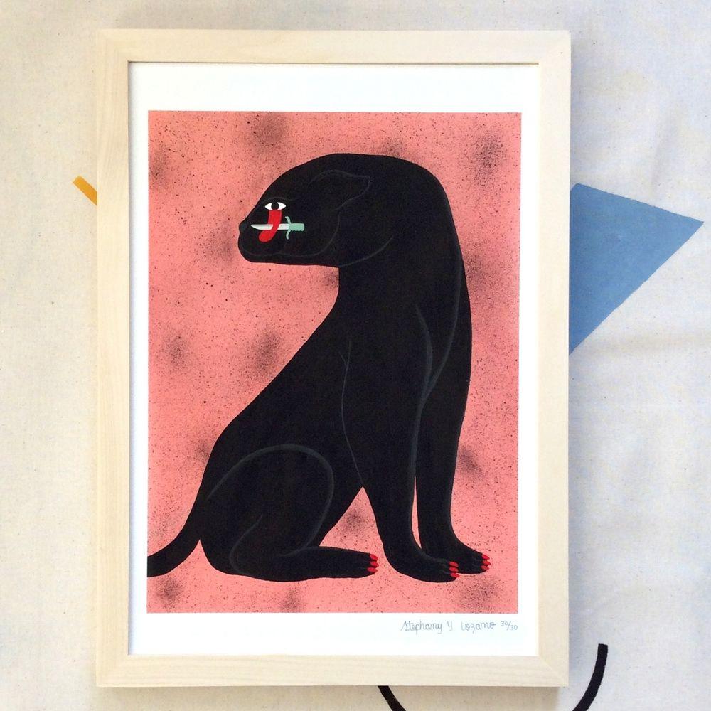 Jaguar Growling Panther Canvas Art Print By: PANTHER / LARGE Via Lozano