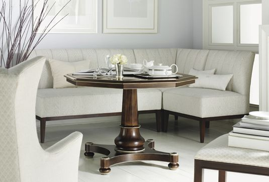 Hickory Chair Bistro Banquette Showroom Details Henredon Interior Enchanting Hickory Dining Room Chairs 2018
