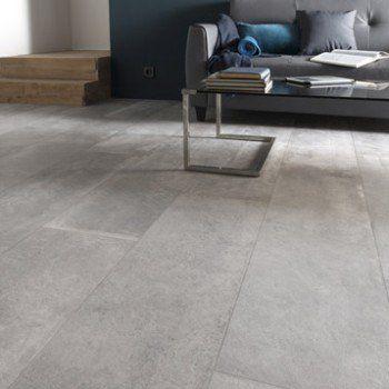 Carrelage sol et mur gris cendre effet b ton harlem x cm leroy merlin deco for Peinture effet beton castorama