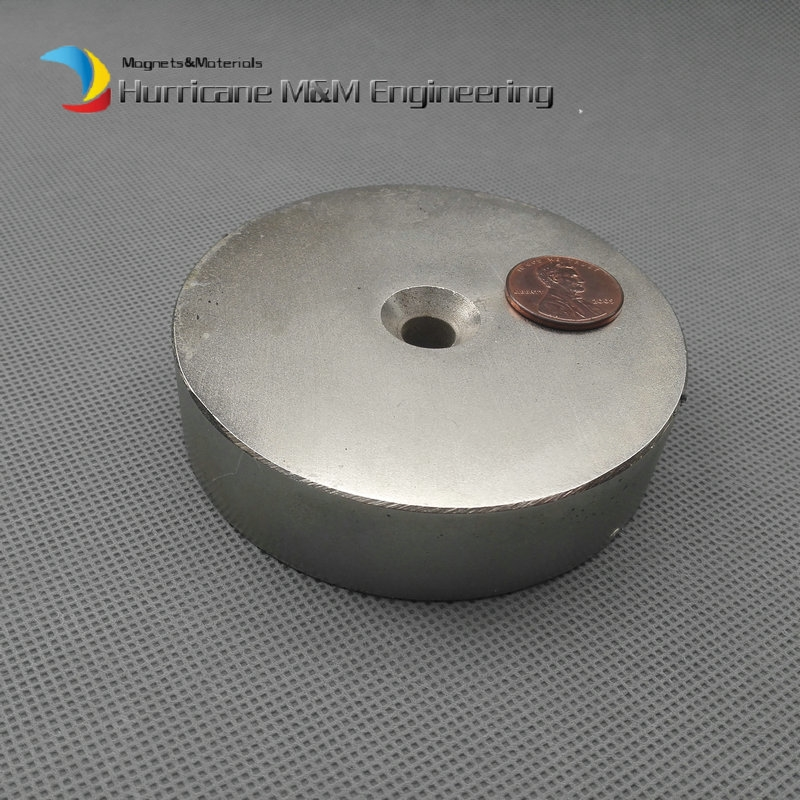 "72.18$  Buy here - http://alisjy.worldwells.pw/go.php?t=32576959314 - ""NdFeB Lifting Magnet Disc Dia. 80x20 mm 3"""" Round with Matching Screw Countersunk Hole N52 Neodymium Rare Earth Permanent Magnet"" 72.18$"