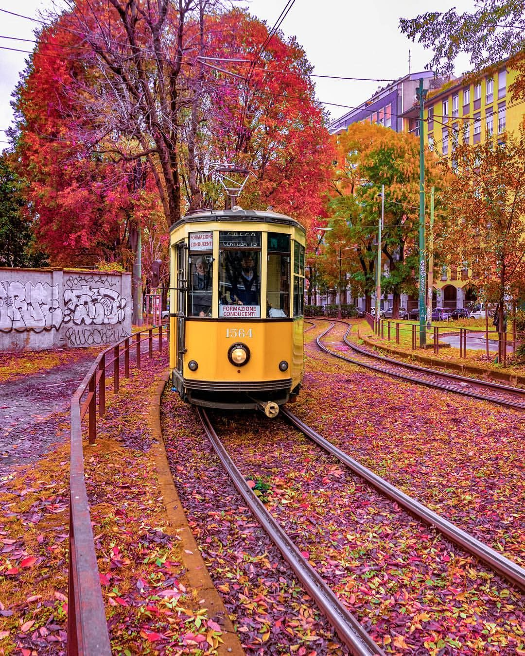 Autumn Colours In Milan Italy Vacation Italy Photo Cool Places To Visit