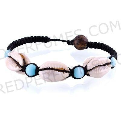 192d2584819a pulsera con hilos,caracoles y cristal | caracoles | Moda estilo ...