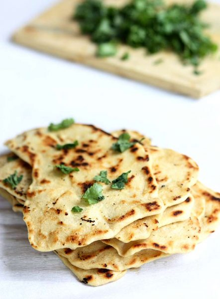 Quick Naan without Yeast Recipe in 2020   Food recipes ...