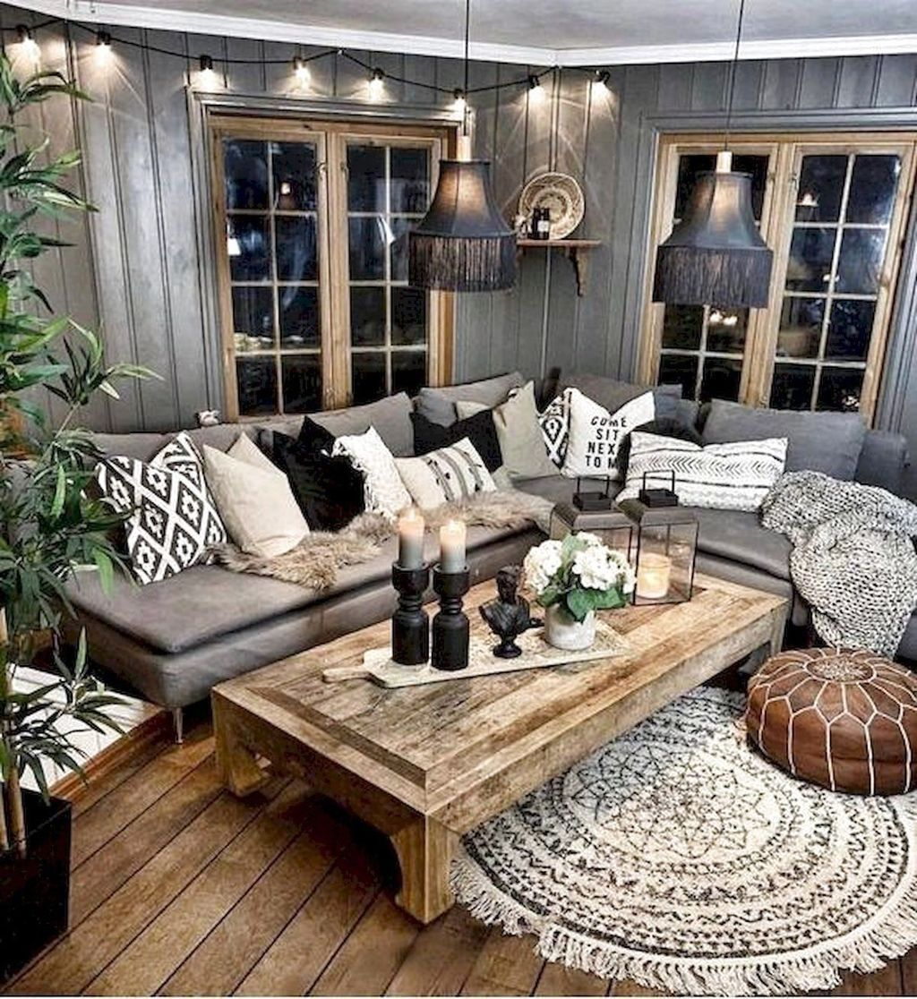 31 Nice Rustic Farmhouse Living Room Design And Decor