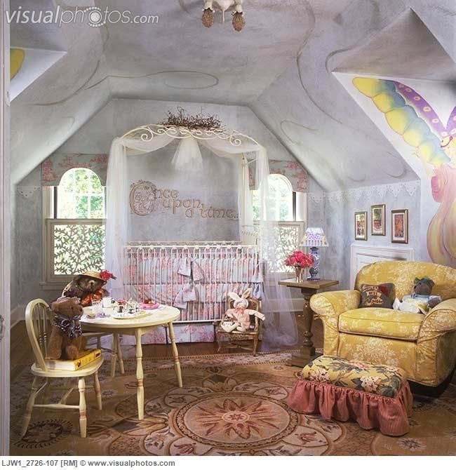 A Little Princess Nursery Design: Fairy Tale Nursery. Love The Once Upon A Time Above The