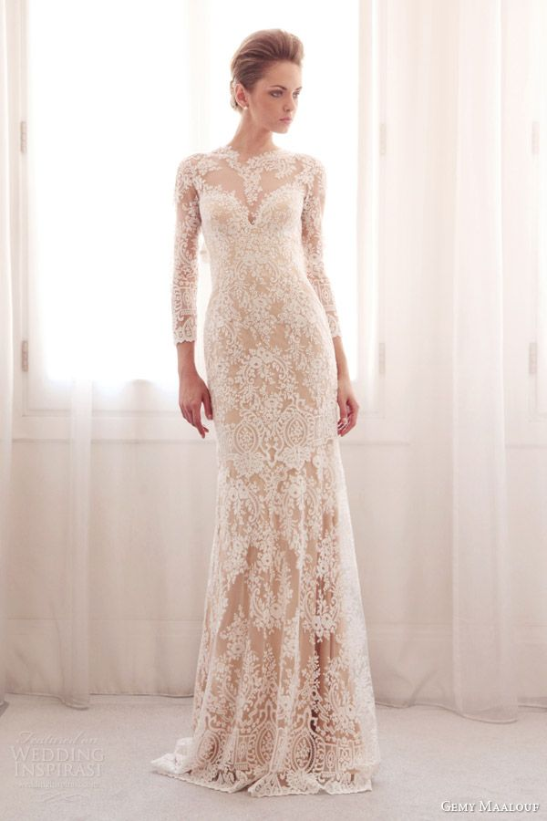 gemy maalouf | WEDDING | Pinterest | Wedding, Lace gowns and Dress ...