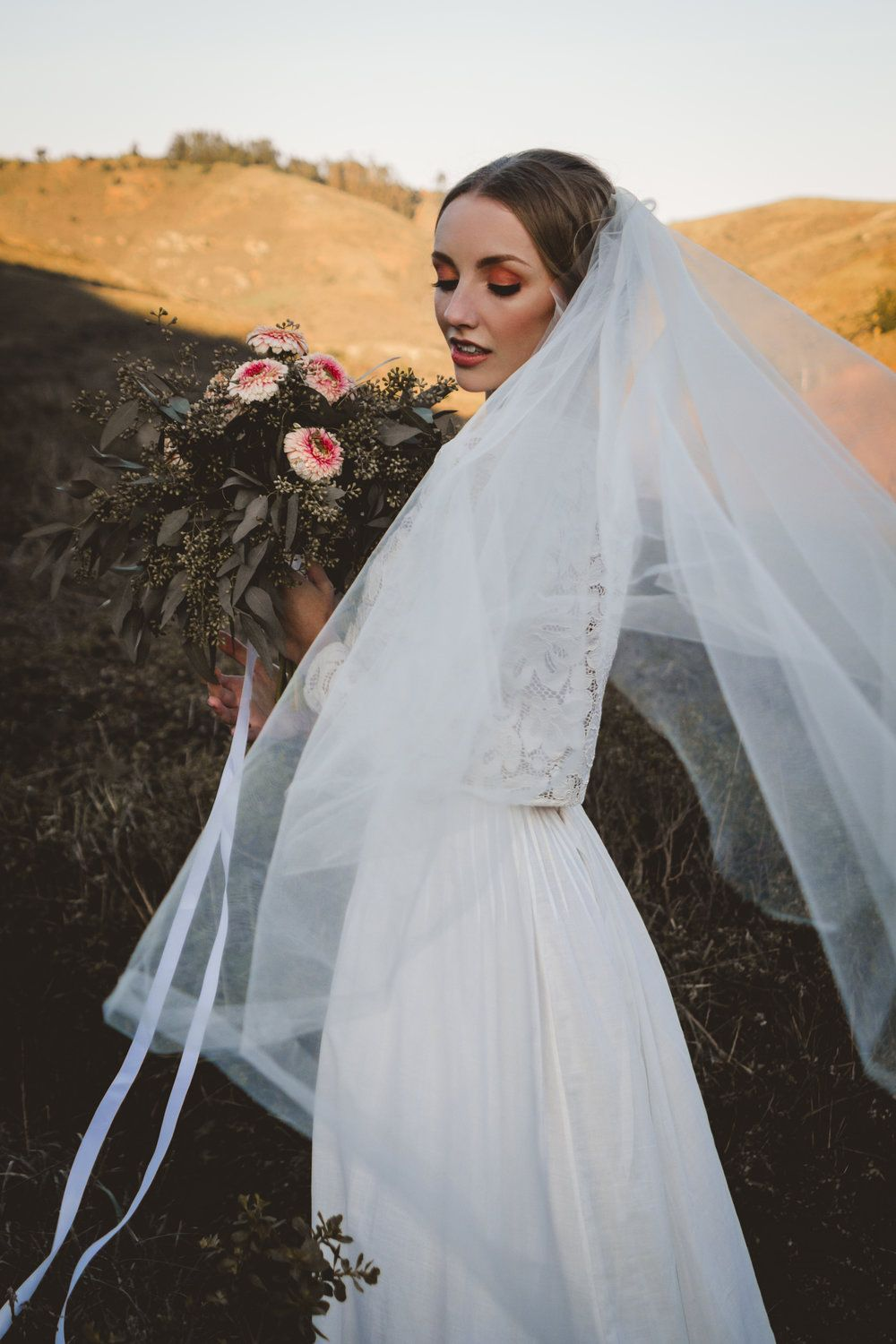 Marin County Bride. Rose Gold/Copper Eyeshadow and makeup