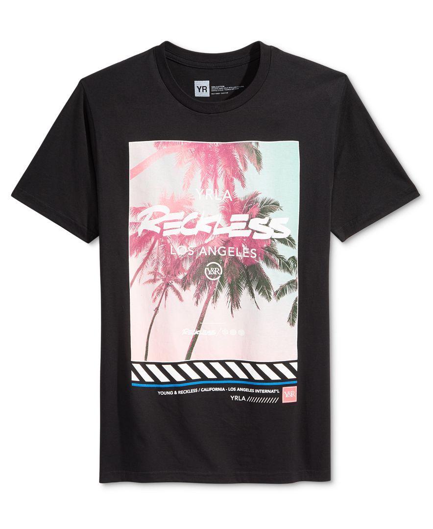 Young Reckless Men S Palm Lifestyle Graphic Print Logo T Shirt Mens Tshirts T Shirt Print Logo
