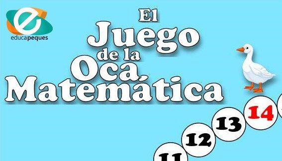 Juego Educativo De Matemáticas La Oca Matemática Juegos Educativos Juegos De Matemáticas La Oca Matematica