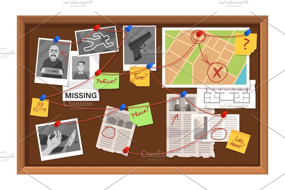Detective Board Crime Investigation In With Images