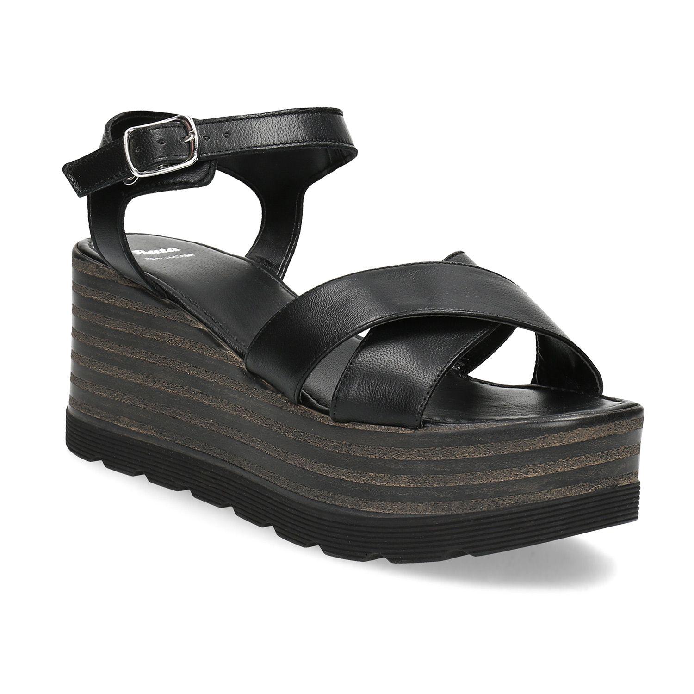 fc7dc566c978 Tieto kožené sandále Vám predĺžia nohy a vyššia platforma zabezpečí sklon  nohy taký