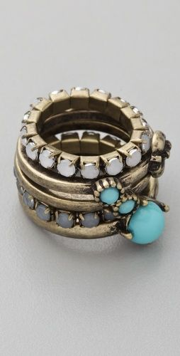 Multi Stone Stackable Ring Set
