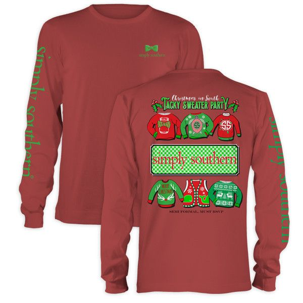56b039f1 Simply Southern Christmas Tacky Sweater Party Holiday Long Sleeve T-Shirt
