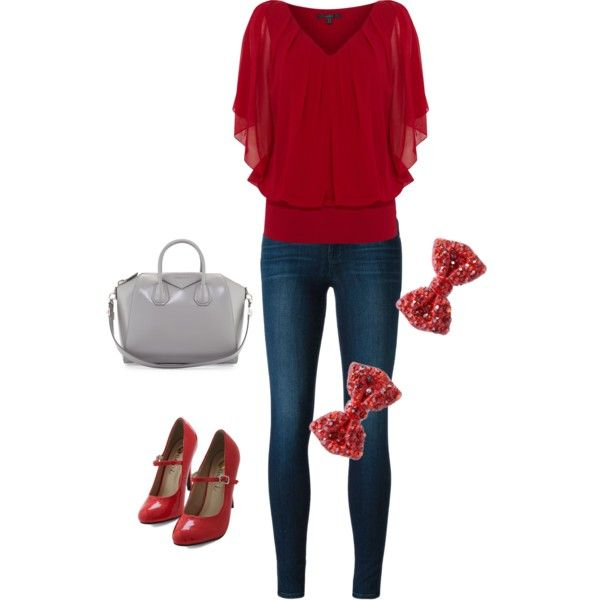 A fashion look from December 2014 featuring Coast tops, J Brand jeans and Givenchy handbags. Browse and shop related looks.