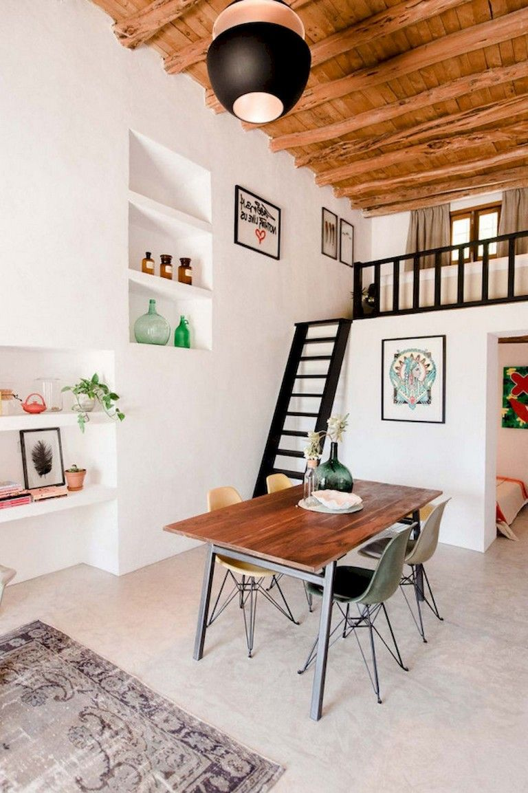 52 Stunning Tiny Loft Apartment Decor Ideas Loft Apartment Decorating Apartment Decor Inspiration Tiny Loft