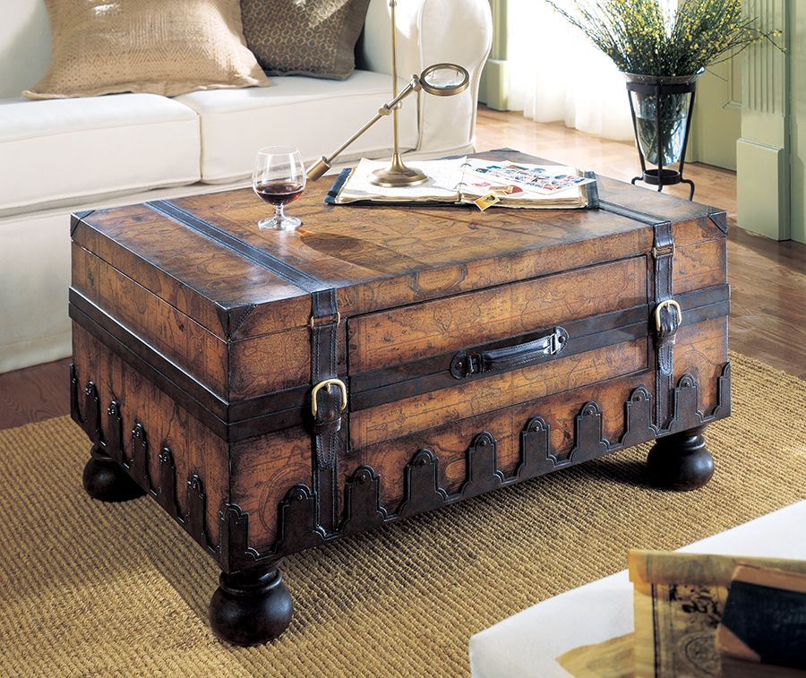 Wondrous Old World Map Trunk Coffee Table 919 00 For The Home In Home Remodeling Inspirations Propsscottssportslandcom
