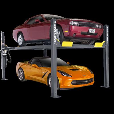 Hd 9 Series Four Post Parking Lift By Bendpak 4 Post Car Lift Garage Lift Car Lifts