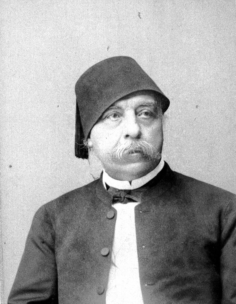 Nubar Pasha (1825-1899). The administration of Ismai had brought Egypt to the verge of bankruptcy, compelled Britain and France to interfere. Ismail, who began to regret the establishment of the International Courts, assented to a mixed ministry under Nubar, with Charles Wilson as minister of finance and the Marquis de Blignières as minister of public works.