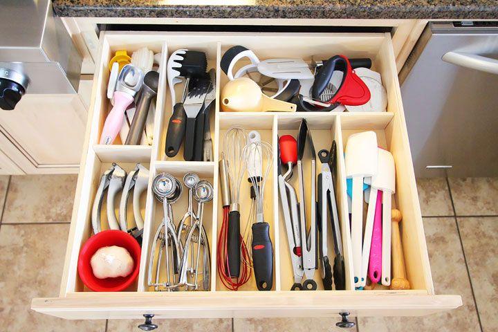 Kitchen Organization Ideas Diy Drawer Organizer Utensil Drawer