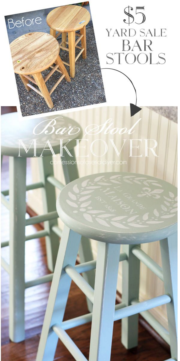 Yard Sale Bar Stools Painted In Inglenook By Fusion Mineral Paintu2026