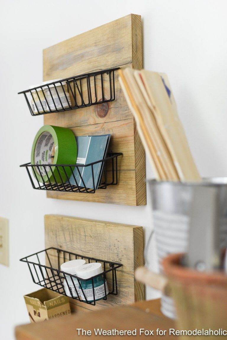 Diy farmhouse wall baskets the weathered fox 1 wire wall