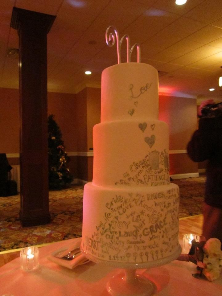 Graffiti Wedding Cake Include Phrases And Words With Meaning To The Bride Groom