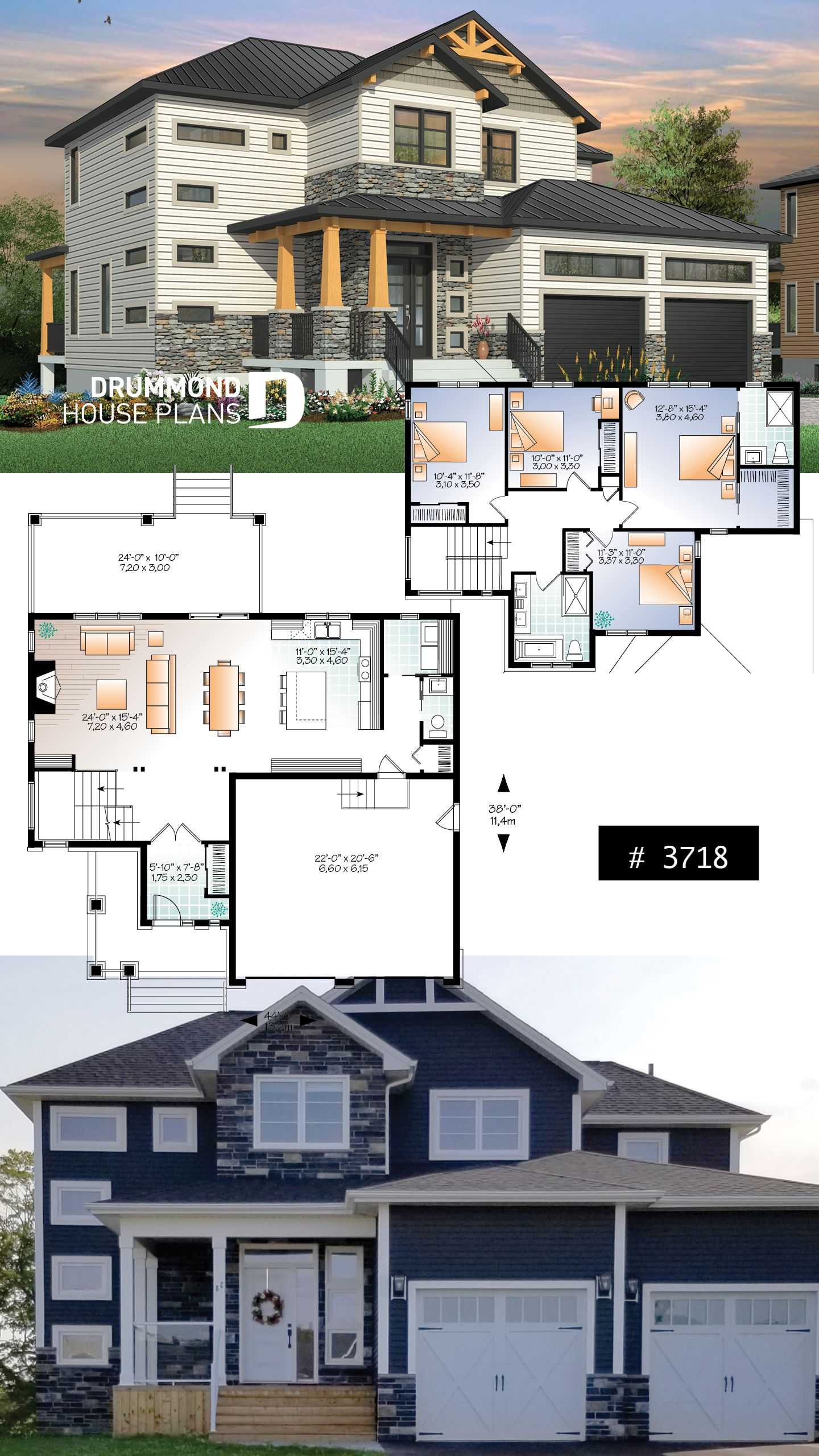 Discover The Plan 3718 Lexington Which Will Please You For Its 4 Bedrooms And For Its Mountain Styles Architecture House House Design Contemporary Architecture House