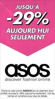 -29% sur plus de 2000 articles sur le site d'Asos ! Valable jusqu'au 29/02/2012