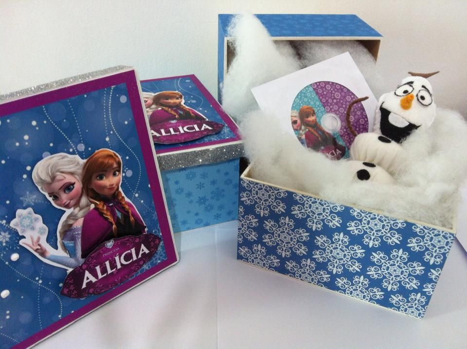 Kit lembrança caixa Frozen! Kit com Olaf e cd com as musicas do filme