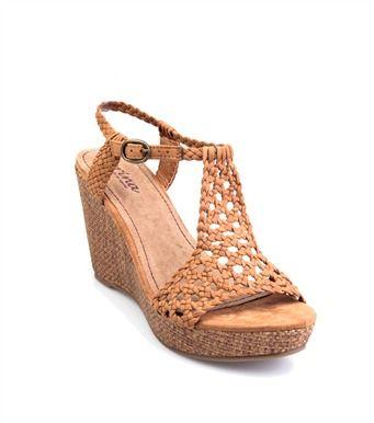 Sandalias mujer caladas con cuña y plataforma 32 cbea1cf4d124