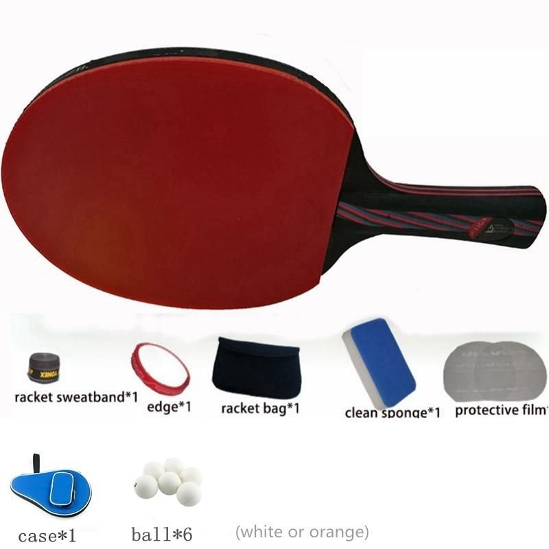 Hybrid Wood 9 8 Carbon Fiber Table Tennis Racket Glued With Double Face Pimples In Blue Rubber Ping Pong Racket Tenis De Mesa Table Tennis Racket Table Tennis Tennis Racket