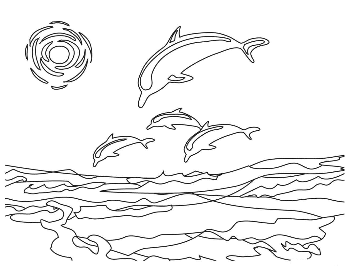 Free Printable Dolphin Coloring Pages For Kids Beach Coloring Pages Dolphin Coloring Pages Ocean Coloring Pages