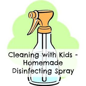 Bear Hugs Baby: Cleaning with Kids - Homemade Disinfecting Spray