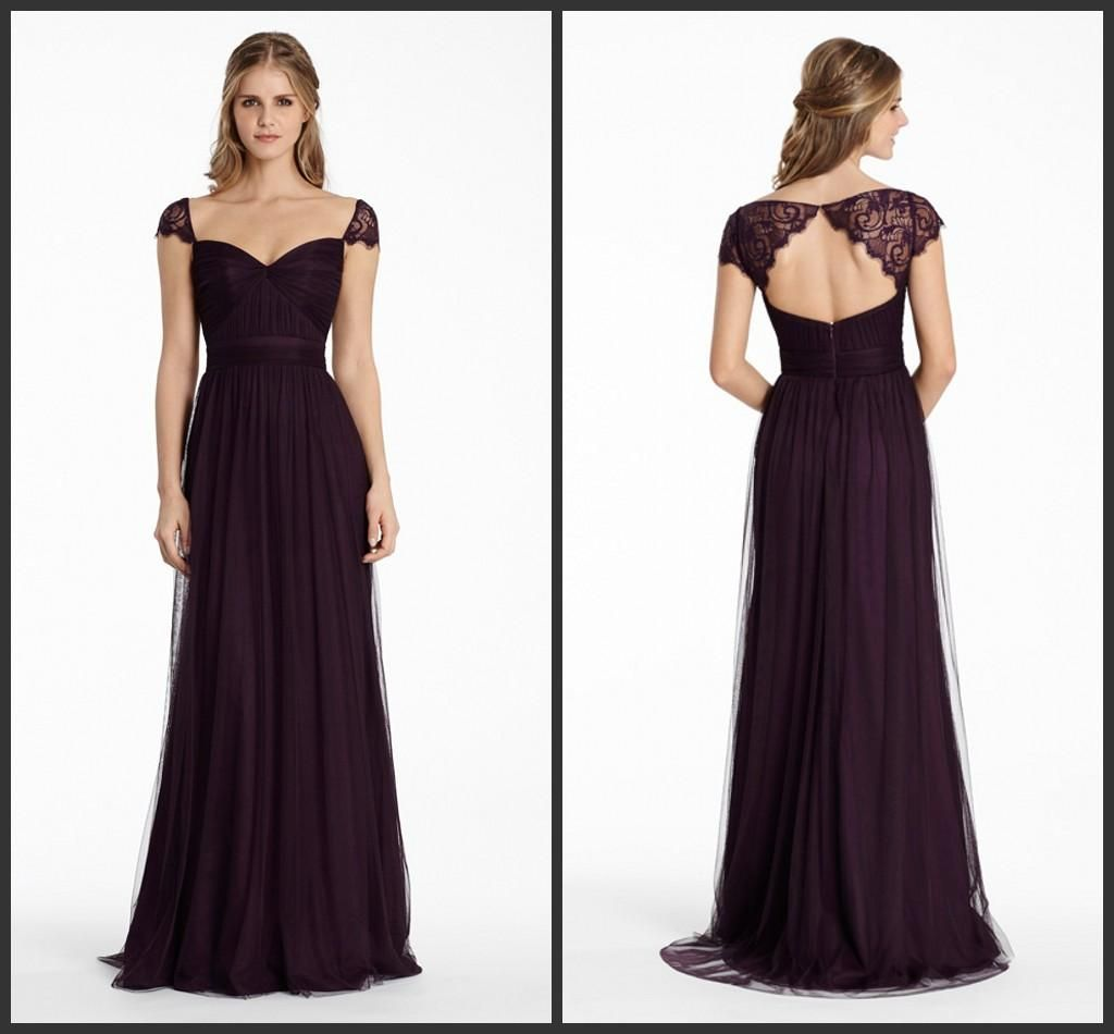 a2d29c7482 Bridesmaids Dresses 2015 Plum English Net A Line Long Sweetheart ...