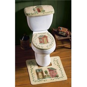 Outhouse Toilet Rug Tank Seat Cover