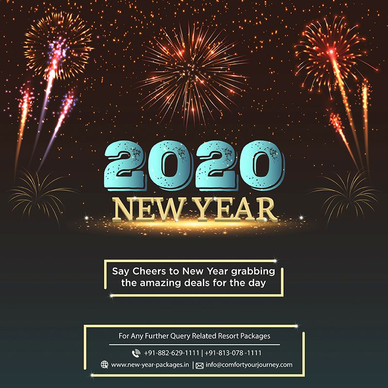 Bid Adieu To 2019 And Welcome The New Year 2020 With New Resolution Joy And Laughter In Great Style Jo New Year Packages New Years Party New Year Celebration